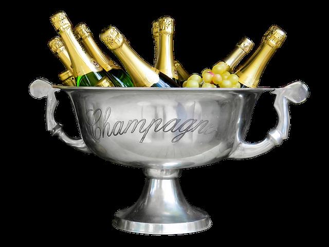 lahve šampaňského
